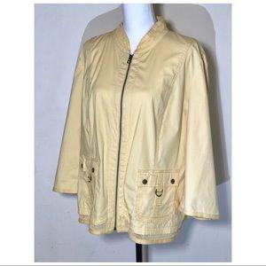Chico's vintage women's cotton jacket bomber size3